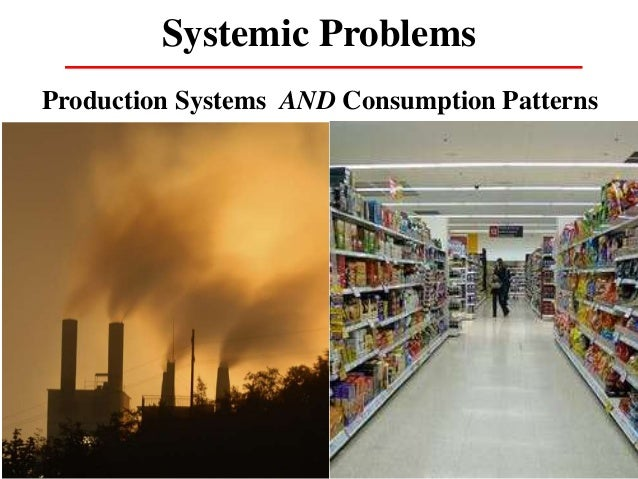 Systemic Problems Production Systems AND Consumption Patterns