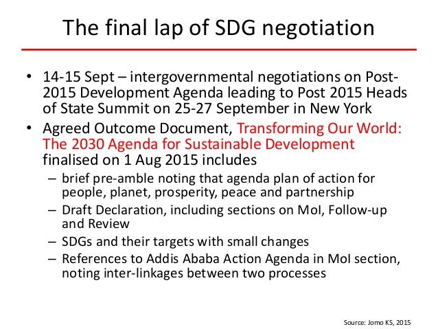 SDGs as a network of targets Source: Le Blanc, 2015 4DESAWORKINGPAPERNO.141 Figure 1 The SDGs as a net work of targets Sou...