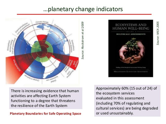 …planetary change indicators Approximately 60% (15 out of 24) of the ecosystem services evaluated in this assessment (incl...