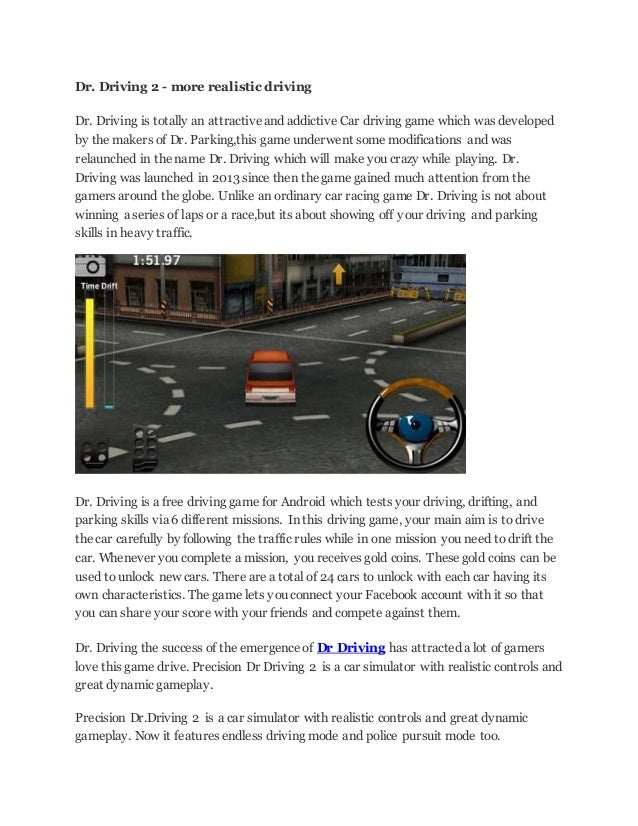 dr driving hacked version free download