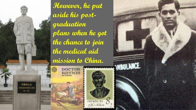 However, he put aside his post- graduation plans when he got the chance to join the medical aid mission to China.