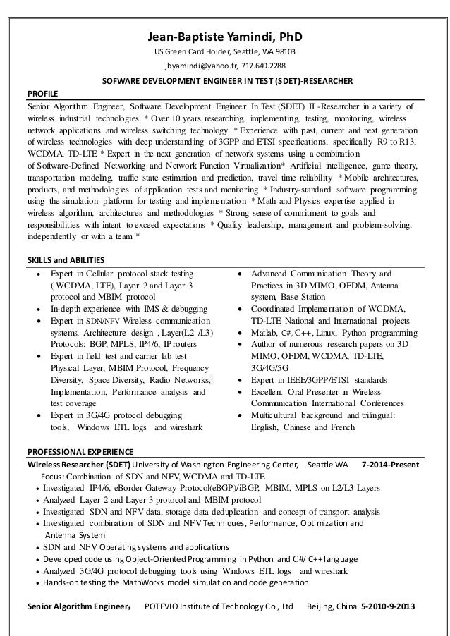 dr yamindi resume 2016 for wireless researcher or engineer