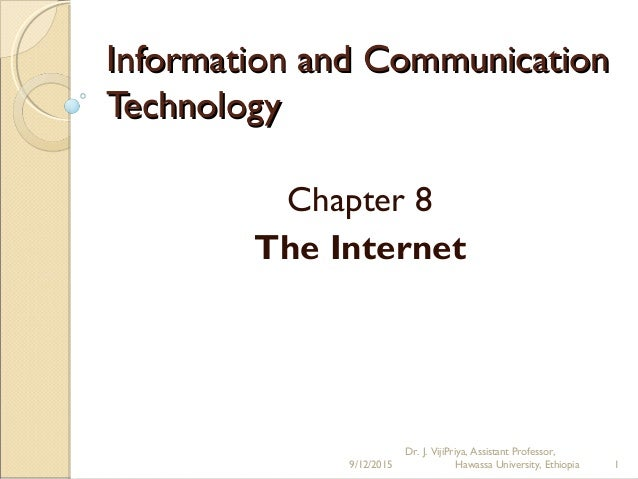 Dr  J  VijiPriya - Information and Communication Technology Chapter 8…