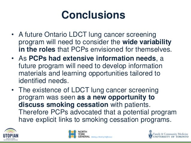 Dr. Frank Sullivan - Early diagnosis of lung cancer