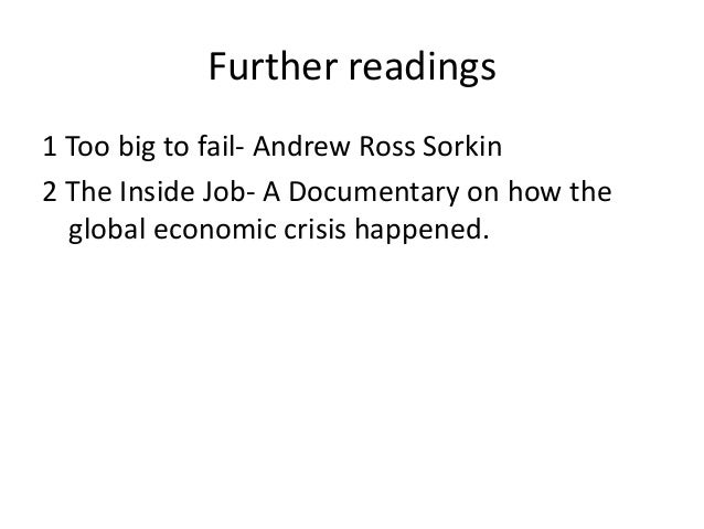 inside jobs essay Inside job this movie tells us how the global economy collapsed in 2007, how it was made, who were responsible for this and what they did not do to fix it.