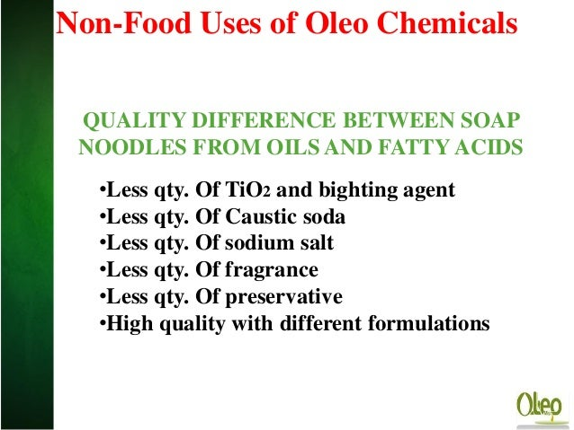 Storage manufacture oil and fat products and fat-based detergents. Pasta