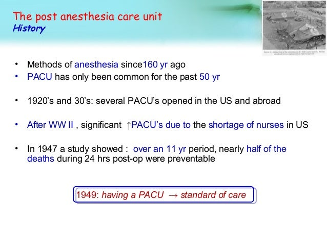 post anaesthetic care unit guidelines