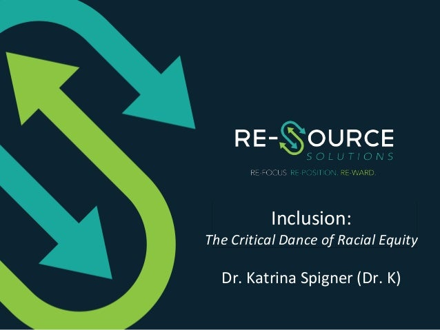 Template Header Template Subheader Inclusion: The Critical Dance of Racial Equity Dr. Katrina Spigner (Dr. K)