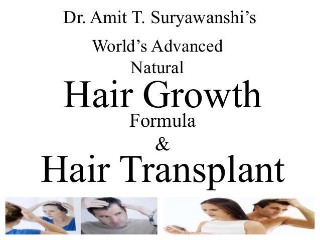 World's Advanced Natural Hair Growth Formula & Dr. Amit T. Suryawanshi's Hair Transplant