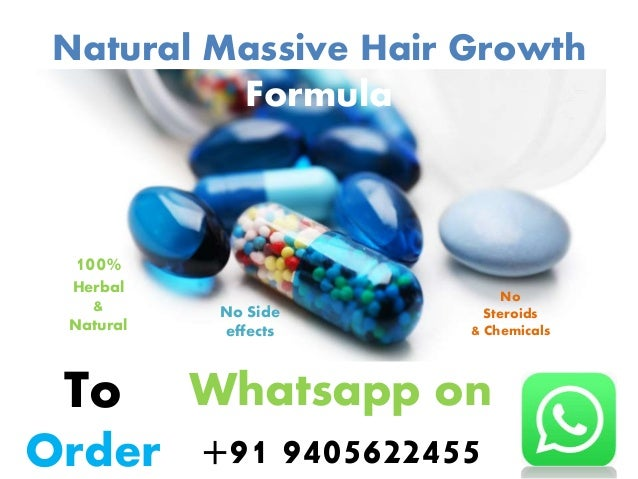 Natural Massive Hair Growth Formula 100% Herbal & Natural No Side effects No Steroids & Chemicals To Order Whatsapp on +91...