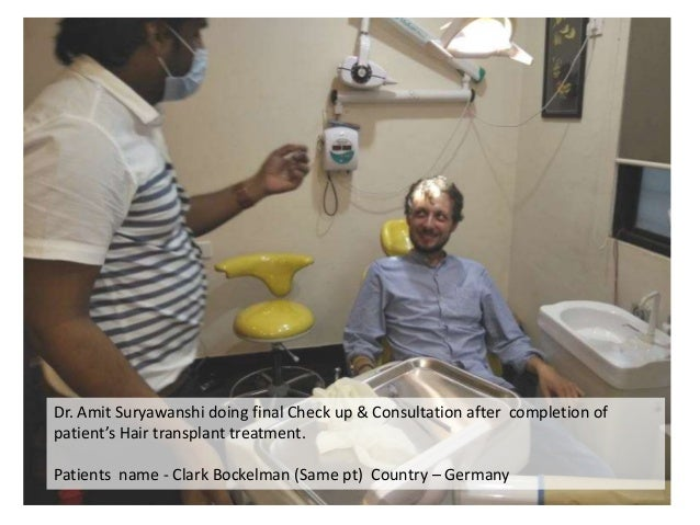 Dr. Amit Suryawanshi doing final Check up & Consultation after completion of patient's Hair transplant treatment. Patients...