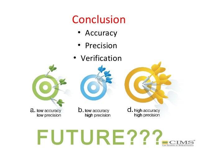 Conclusion • Accuracy • Precision • Verification FUTURE???