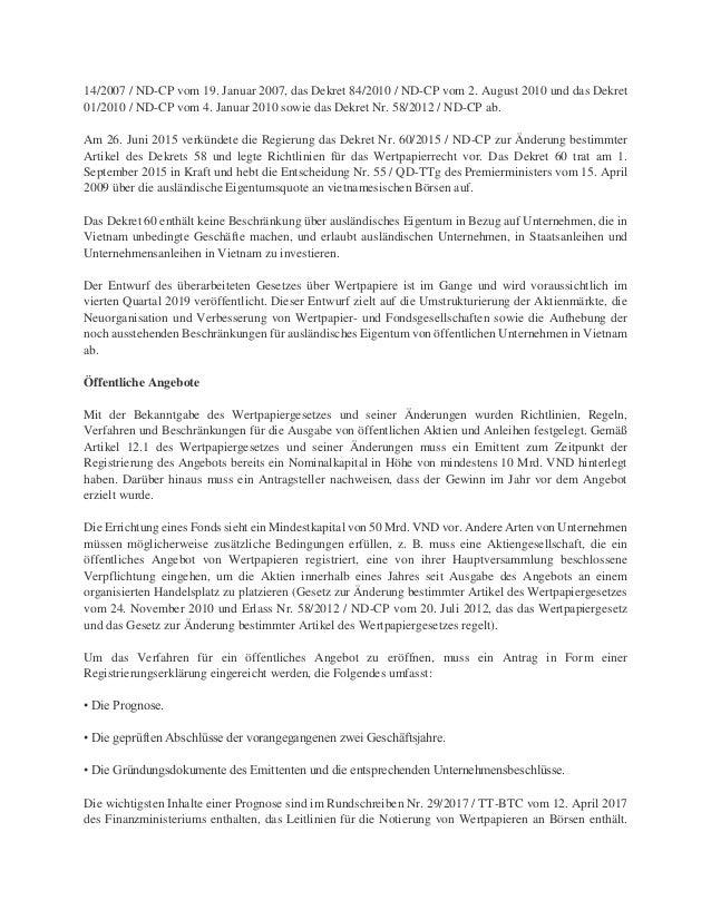 Anwalt In Vietnam Dr Oliver Massmann Bankgeschäfte Und Wertpapiere