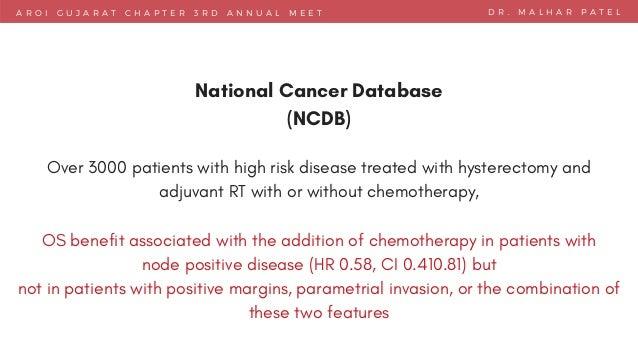 A R O I G U J A R A T C H A P T E R 3 R D A N N U A L M E E T D R . M A L H A R P A T E L National Cancer Database (NCDB) ...