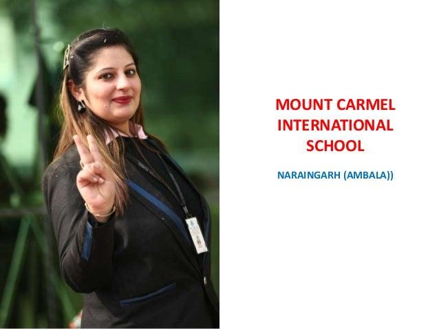 MOUNT CARMEL INTERNATIONAL SCHOOL NARAINGARH (AMBALA)