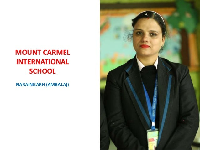 I THINK ALL WOMEN SHOULD LOOK THEMSELVES IN THE MIRROR AND BE THEIR MOUNT CARMEL INTERNATIONAL SCHOOL NARAINGARH (AMBALA))