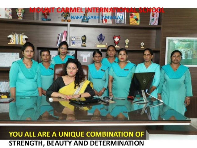 AS I AM THE FIRST ROLE VERSION OF MY SELF. I WANT MY MCI WOMEN TO BE THE FIRST ROLE VERSION OF THEMSELVES MOUNT CARMEL INT...