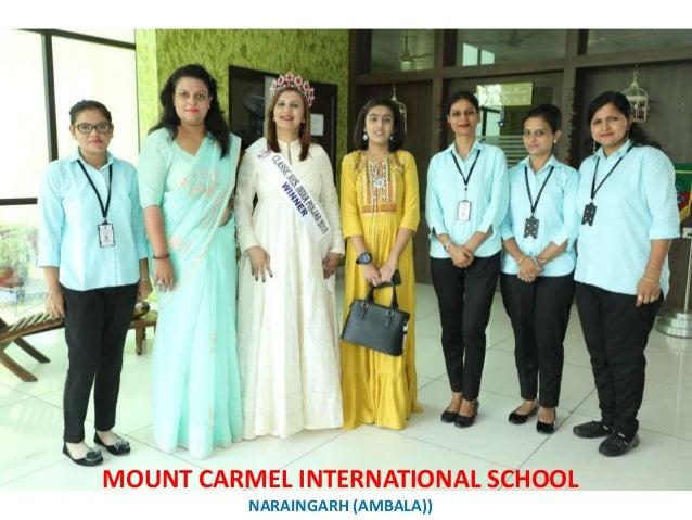 HERE'S TO ALL THE STRONG WOMEN OF MCI MAY U ALL KNOW THEM MOUNT CARMEL INTERNATIONAL SCHOOL NARAINGARH (AMBALA))