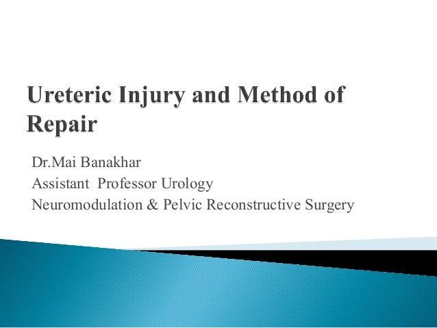 Dr.Mai Banakhar Assistant Professor Urology Neuromodulation & Pelvic Reconstructive Surgery