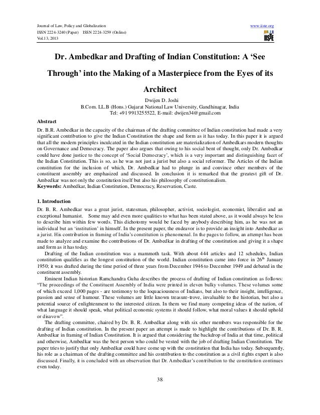 Journal of Law, Policy and Globalization www.iiste.orgISSN 2224-3240 (Paper) ISSN 2224-3259 (Online)Vol.13, 201338Dr. Ambe...