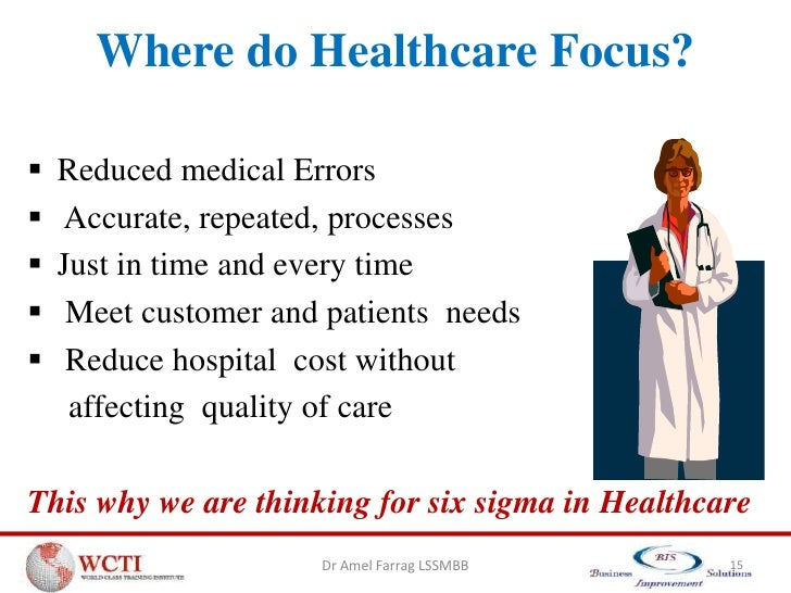 Using Six Sigma to Improve Clinical Quality and Outcomes