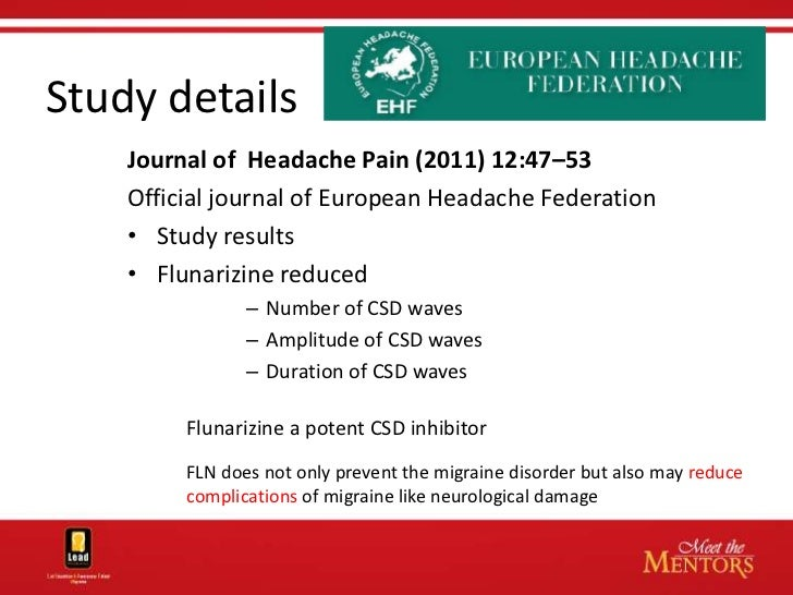 The potency of migraine prophylaxis with nilvadipine ...