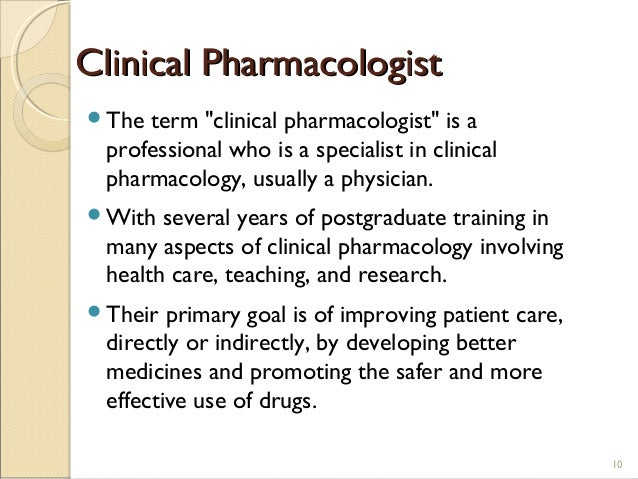 Clinical Pharmacology History Roles & Research