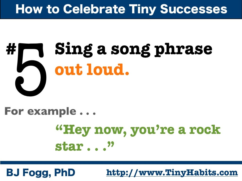 How To Celebrate Tiny Successes