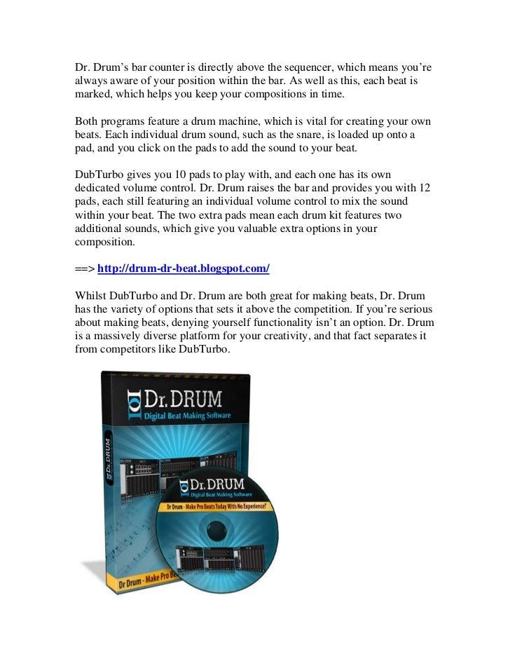 Dr  drum vs  dubturbo dr drum beat making software free download