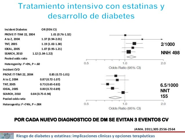 Beneficio clínico de las estatinas y diabetogénesis