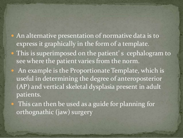  An alternative presentation of normative data is to  express it graphically in the form of a template. This is superimp...