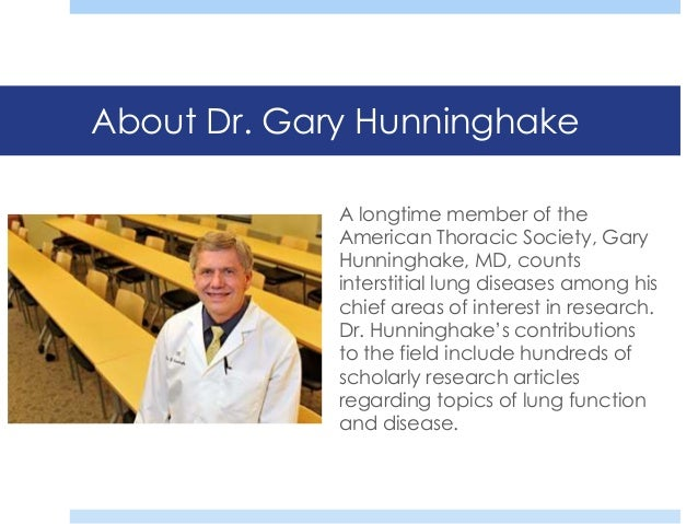 5 about dr gary hunninghake