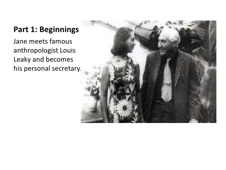 Part 1: BeginningsJane meets famousanthropologist LouisLeaky and becomeshis personal secretary.