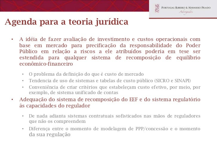 Desafios da teoria do equilíbrio econômico-financeiro de contratos administrativos