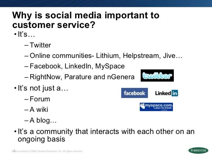 Why is social media important to customer service? <ul><li>It's… </li></ul><ul><ul><li>Twitter </li></ul></ul><ul><ul><li>...