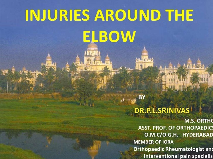 INJURIES AROUND THE       ELBOW              BY                               M.S. ORTHO              ASST. PROF. OF ORTHO...