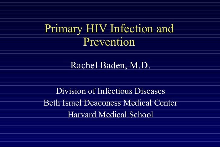 Early HIV Intervention by Dr. Rachel Baden
