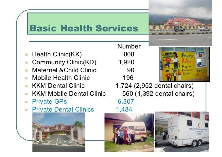 Basic Health Services                                Number   Health Clinic(KK)             808   Community Clinic(KD)...