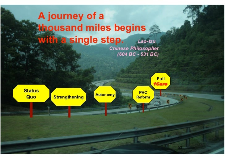 A journey of a     thousand miles begins     with a single step. Lao-tzu                              Chinese Philosopher ...