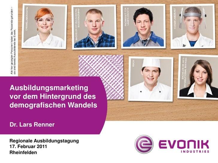 Alle hier gezeigten Personen haben das Passende gefunden –sie sind bereits Auszubildende bei Evonik.Ausbildungsmarketingvo...