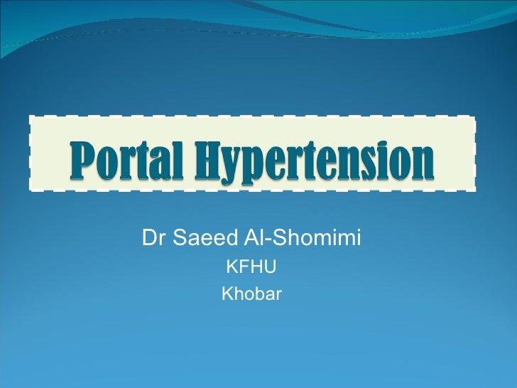 Dr Saeed Al-Shomimi KFHU Khobar