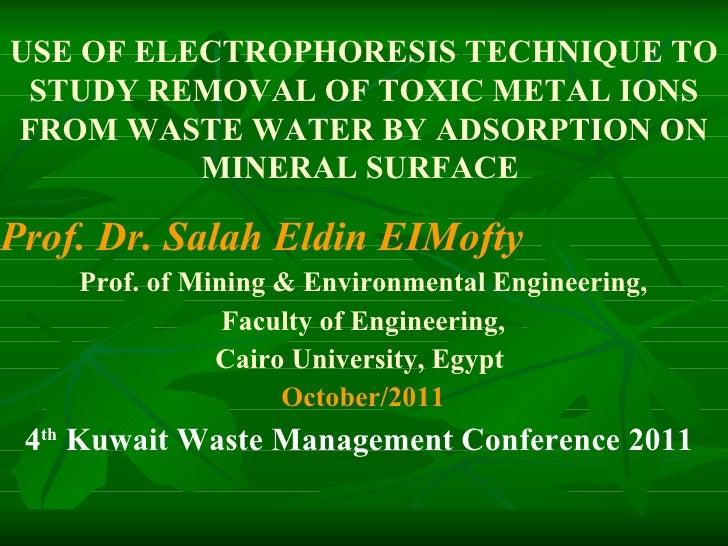 Prof. Dr. Salah Eldin EIMofty  Prof. of Mining & Environmental Engineering, Faculty of Engineering, Cairo University, Egyp...