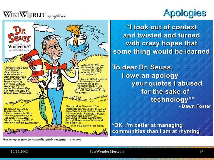 """Apologies                             """"I took out of context                            and twisted and turned            ..."""