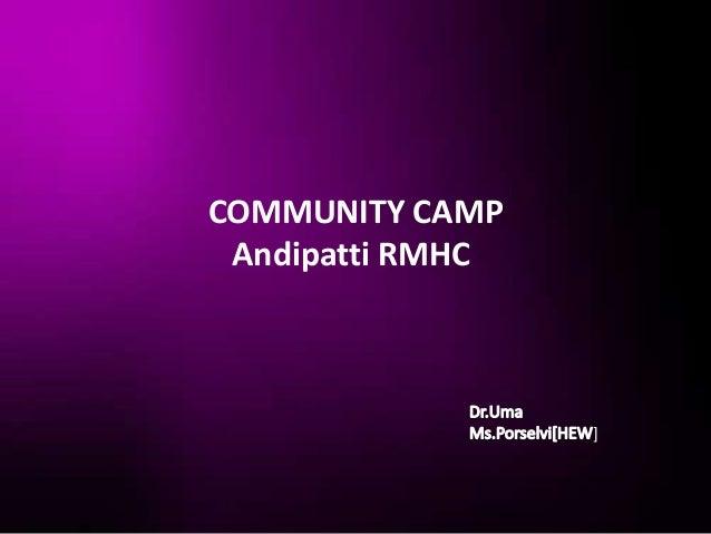COMMUNITY CAMP Andipatti RMHC                  ]