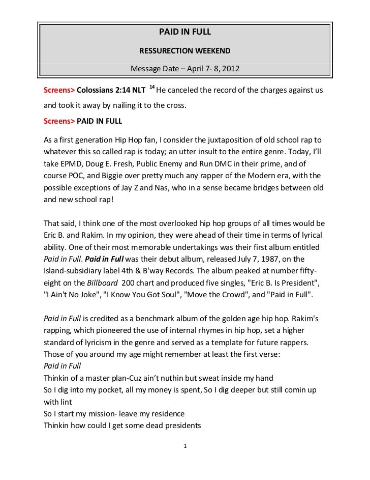 Dr. vernons-sermon-notes-paid-in-full-easter-resurrection-2012