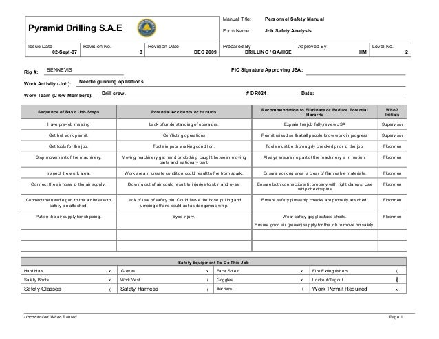 Dr024 needle gunning operations