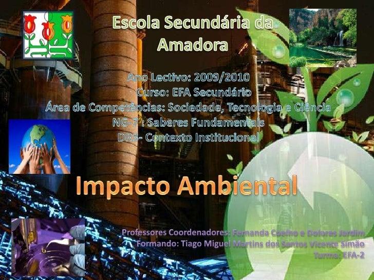 Escola Secundária da Amadora<br />Ano Lectivo: 2009/2010    Curso: EFA Secundário<br />Área de Competências: Sociedade, Te...