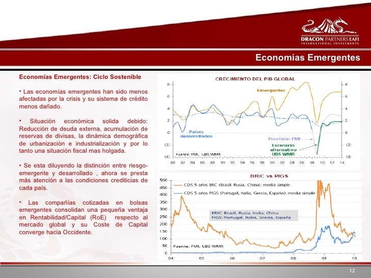 Economías Emergentes <ul><li>Economías Emergentes: Ciclo Sostenible  </li></ul><ul><li>Las economías emergentes han sido m...