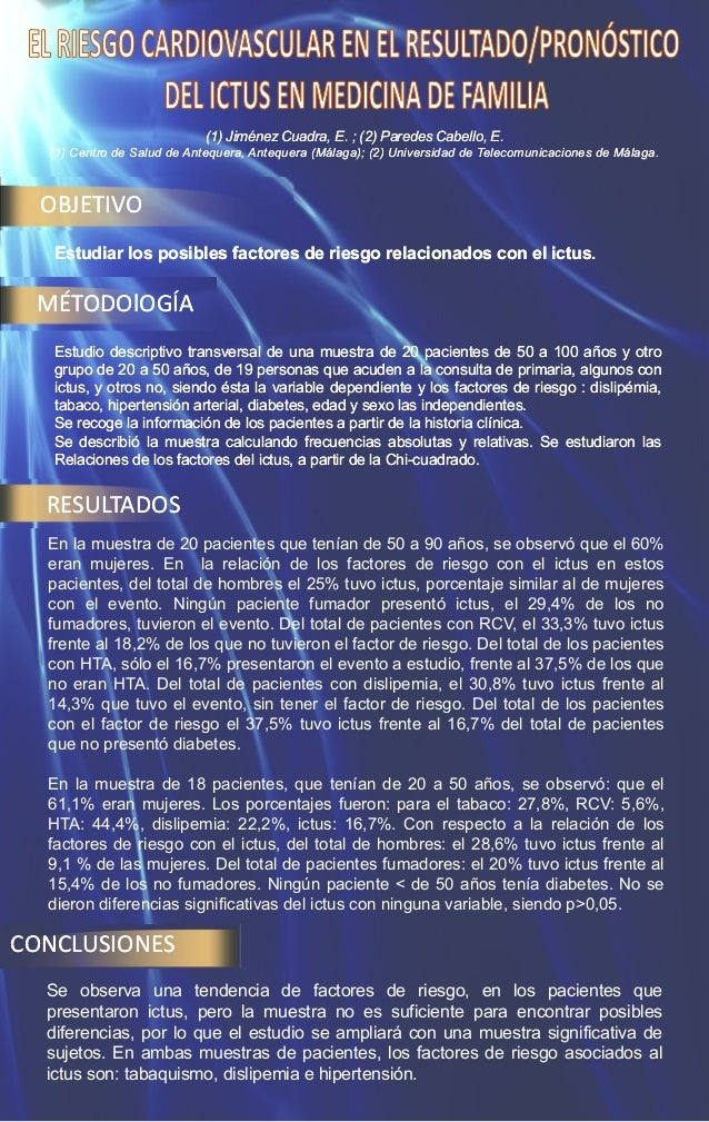 (1) Jiménez Cuadra, E. ; (2) Paredes Cabello, E. (1) Centro de Salud de Antequera, Antequera (Málaga); (2) Universidad de ...