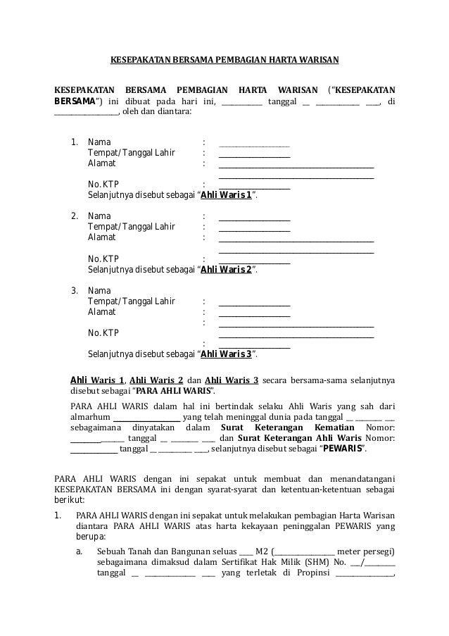 contoh surat pernyataan harta contoh 36